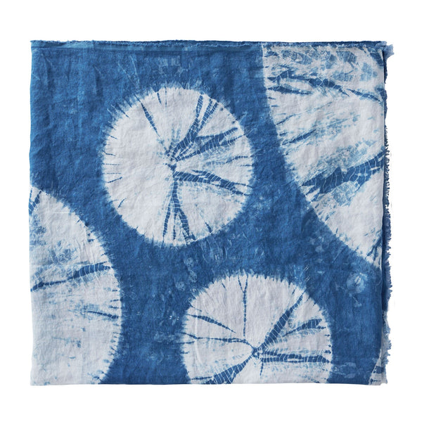 Pure Linen Shibori Throw - Large