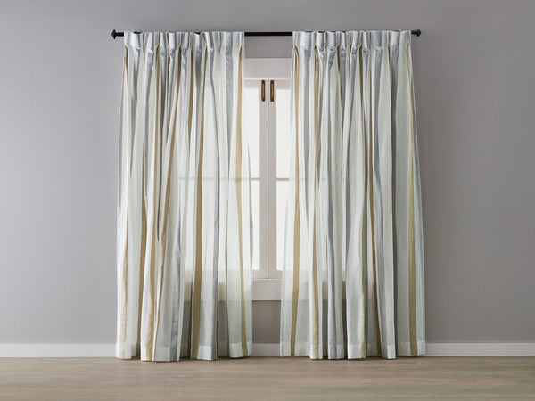 Grayson Stripe Linen Sheer Curtain