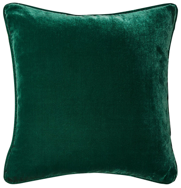 Silk Velvet Cushion - Emerald