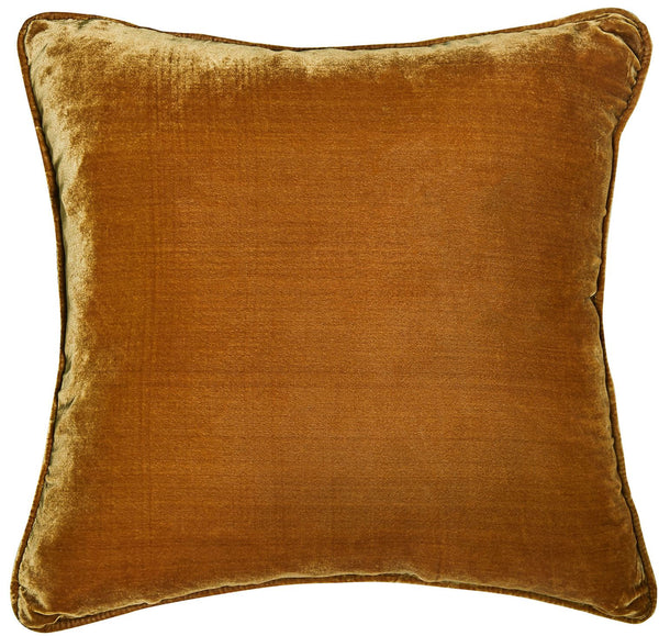 Silk Velvet Cushion - Gold