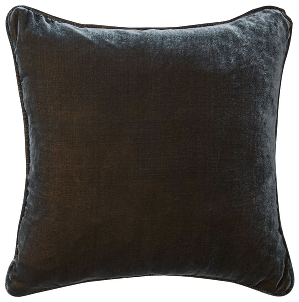 Silk Velvet Cushion - Petrol