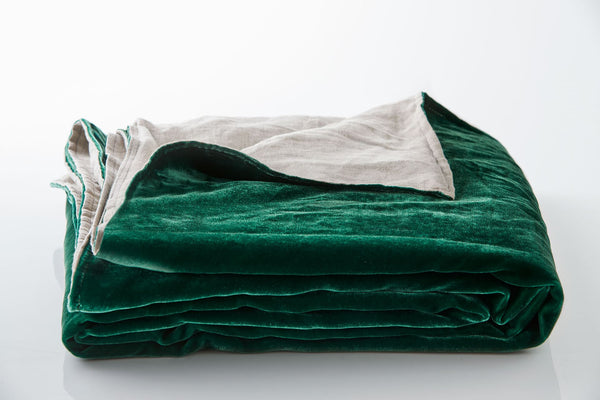 Silk Velvet Throw - Emerald