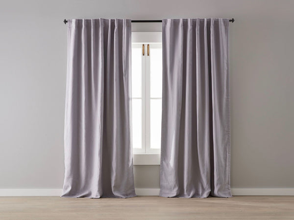 Lilac Linen Blockout Curtain