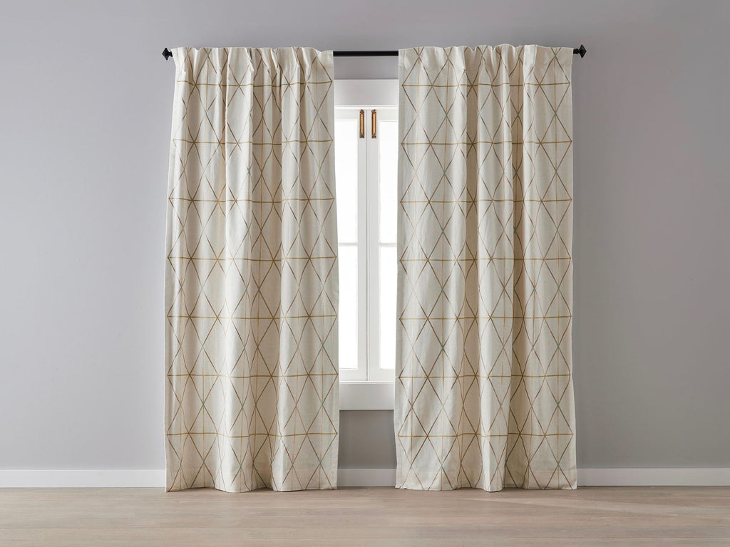 Arabian Fishnet Linen Blockout Curtain