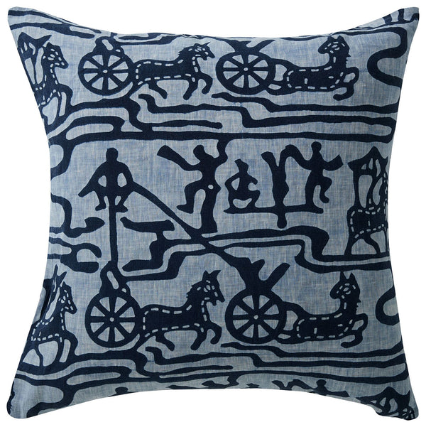 Indigo Batik Linen Cushion