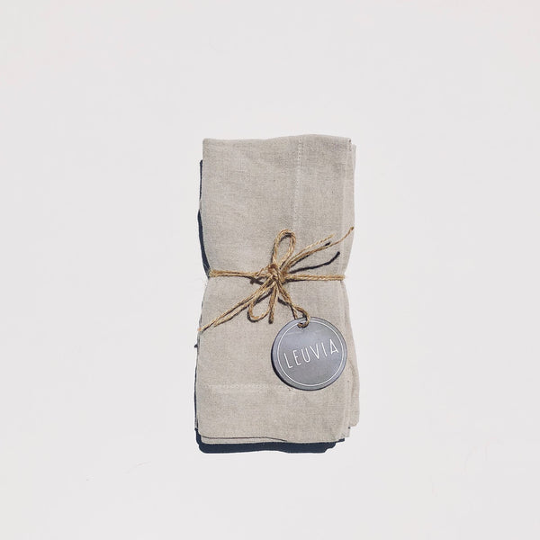 Piper Linen Napkin Pack (Set of 2) - Stone