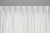Crisp White Pure Linen Curtain - Double Pinch Pleat
