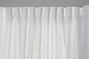 Crisp White Pure Linen Curtain - Pole Pocket