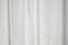 Crisp White Pure Linen Curtain - Tie Top