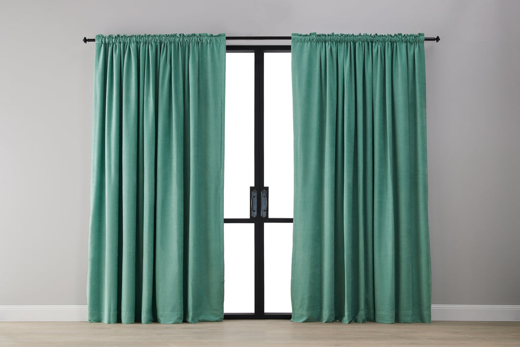 Textured Blockout Curtain - Green