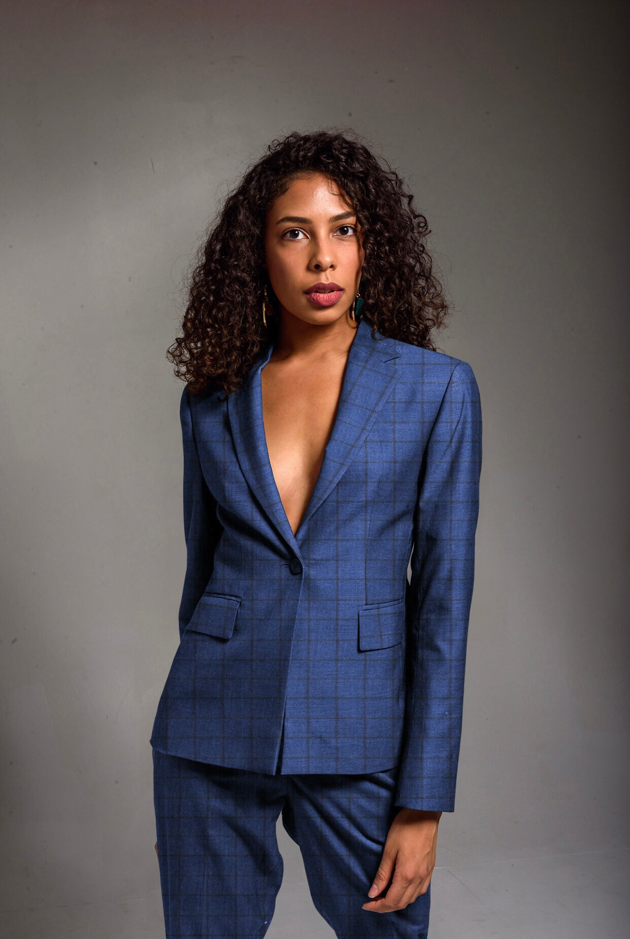 The Windowpane Suit - Womens Suit - Koviem