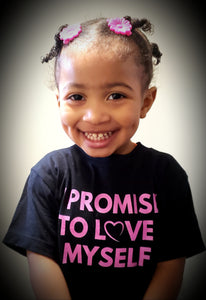 Toddler Short Sleeve I PROMISE TO LOVE MYSELF Tee