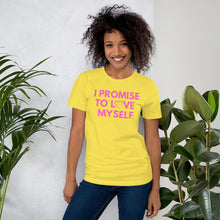 Load image into Gallery viewer, Adult I PROMISE TO LOVE MYSELF Short-Sleeve T-Shirt