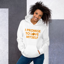 "Load image into Gallery viewer, Adult Limited Edition ""I Promise to Love Myself"" Pumpkin Unisex Hoodie"