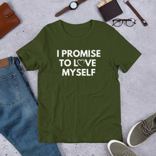 Load image into Gallery viewer, Adult Short-Sleeve I PROMISE TO LOVE MYSELF™,  T-Shirt