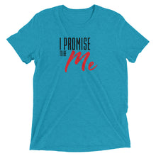 Load image into Gallery viewer, Short sleeve I PROMISE TO BE ME Black and Red Lettering t-shirt