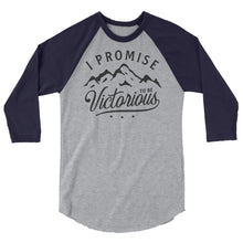Load image into Gallery viewer, 3/4 sleeve I PROMISE TO BE VICTORIOUS™ Promise Quest Sisters raglan shirt