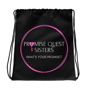 Official Promise Quest Sisters Drawstring bag