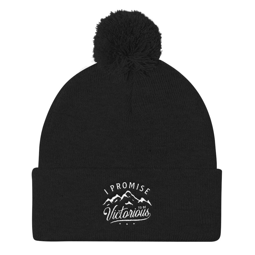I PROMISE TO BE VICTORIOUS™ Pom Pom Knit Cap
