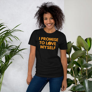 "Limited Edition, ""I Promise to Love Myself"" Pumpkin Short-Sleeve Unisex T-Shirt"