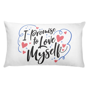 Basic I PROMISE TO LOVE MYSELF Pillow