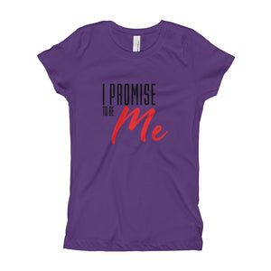 Girl's I PROMISE TO BE ME Black and Red Lettering, Promise Quest Sisters T-Shirt