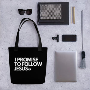 I Promise to Follow Jesus Tote bag