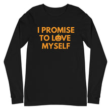 Load image into Gallery viewer, Unisex Limited Edition, Adult I Promise to Love Myself  Pumpkin Long Sleeve Tee