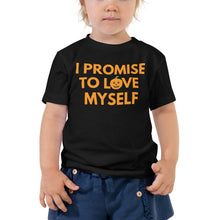 "Load image into Gallery viewer, Limited Edition, ""I Promise to Love Myself"" Pumpkin Toddler Short Sleeve Tee"
