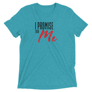 Short sleeve I PROMISE TO BE ME Black and Red Lettering t-shirt