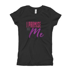 Girl's I PROMISE TO BE ME™ Pink and Purple Lettering Slim and Fitted Promise Quest Sisters T-Shirt