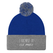 Load image into Gallery viewer, I PROMISE TO LOVE MYSELF Pom Pom Knit Cap