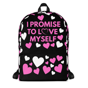 """I Promise to Love Myself"" All-Over Print Backpack"