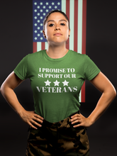 Load image into Gallery viewer, I PROMISE TO SUPPORT OUR VETERANS T-Shirt