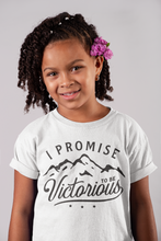 Load image into Gallery viewer, Youth Short Sleeve I PROMISE TO BE VICTORIOUS Shirt