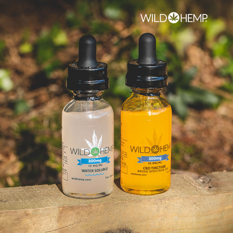 Wild Hemp Tincture and Water Soluble Tincture