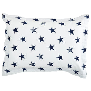 Somerset Star Blue Oxford Pillowcase