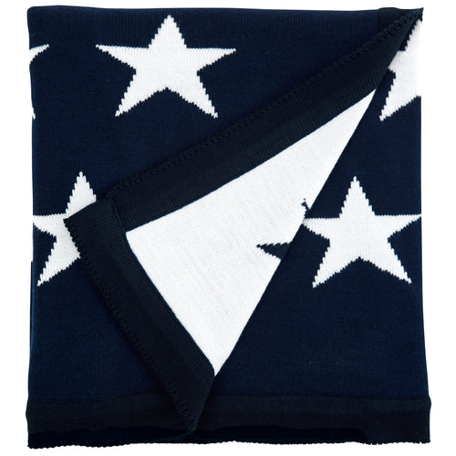 Somerset Star Blue Star Knit Blanket