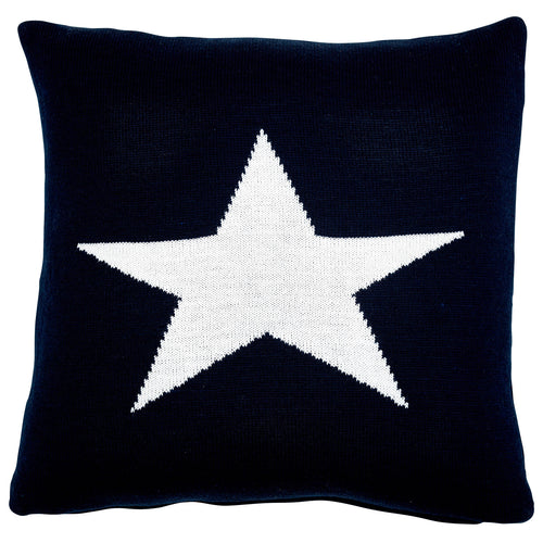 Somerset Star Blue Star Knit Cushion