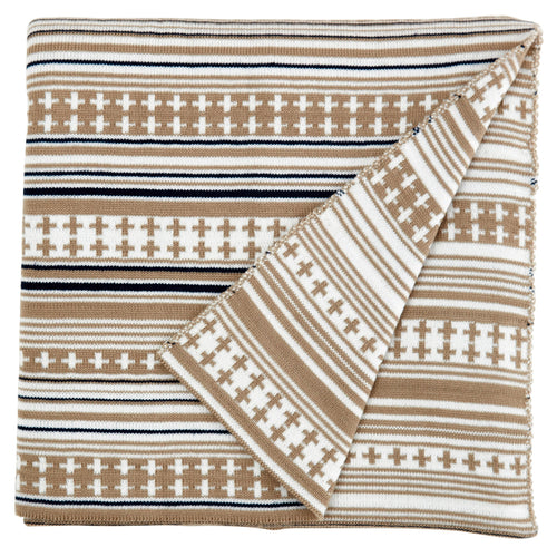 Somerset Star Stone Stripe Knit Blanket