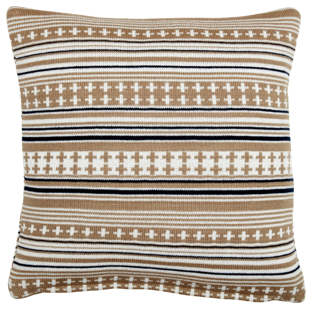 Somerset Star Stone Stripe Knit Cushion