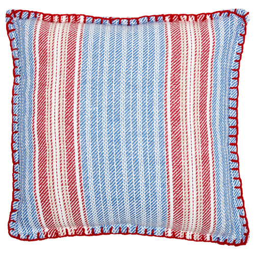 Wincanton Stripe Blanket Stitch Cushion