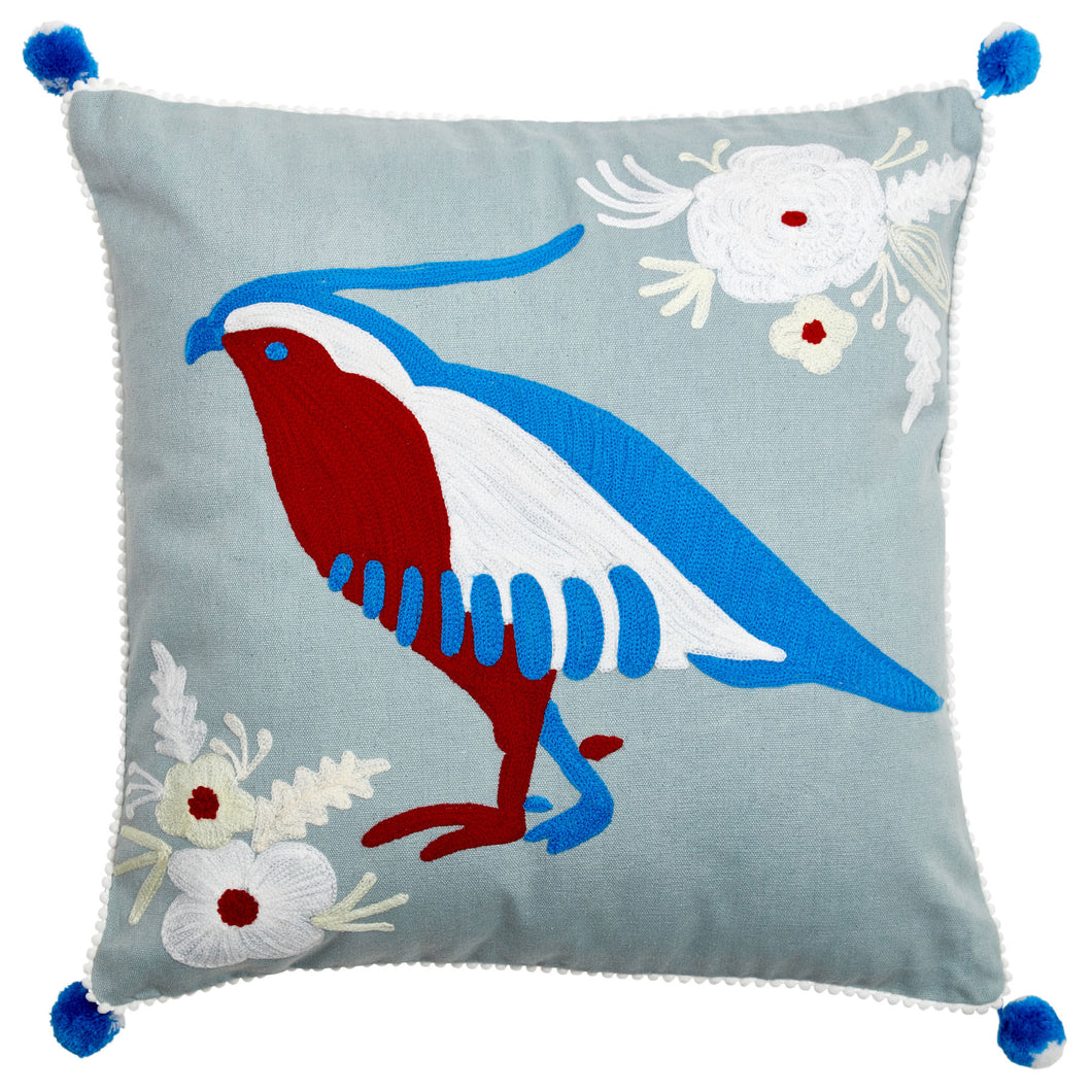 Birdspotting Mockingbird Cushion