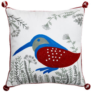 Birdspotting Kingfisher Cushion