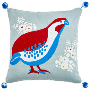 Birdspotting Moorhen Cushion