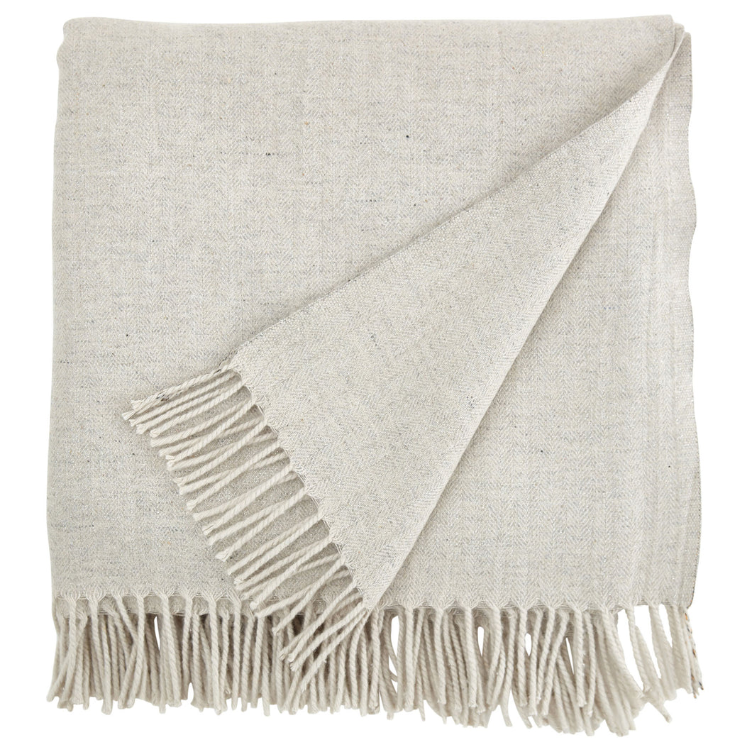 Country Calm Grey Lurex Throw