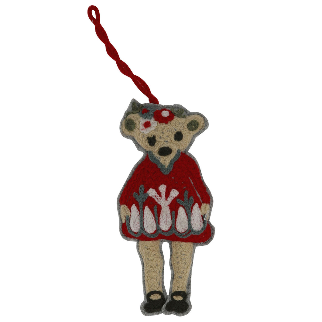 Tree Decoration - Festive Teddy Bear