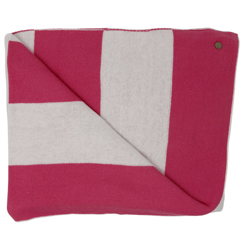 Lighthouse Stripe Pink Blanket