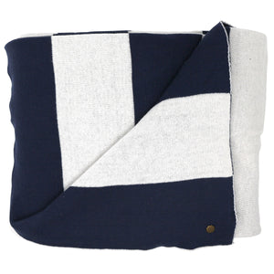 Lighthouse Stripe Navy Blanket