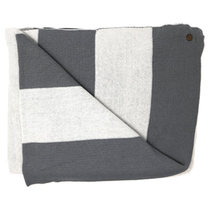 Lighthouse Stripe Grey Blanket